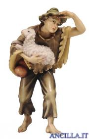 Giovane con pecora Kostner serie 20 cm
