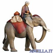 Gruppo dell'elefante con sella e gioielli Cometa serie 25 cm