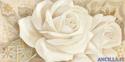 Il bacio delle rose - decorato su pannello piatto