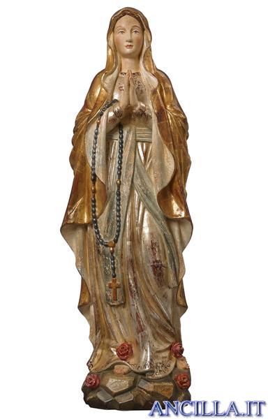 Madonna di Lourdes modello 1 anticata oro e argento