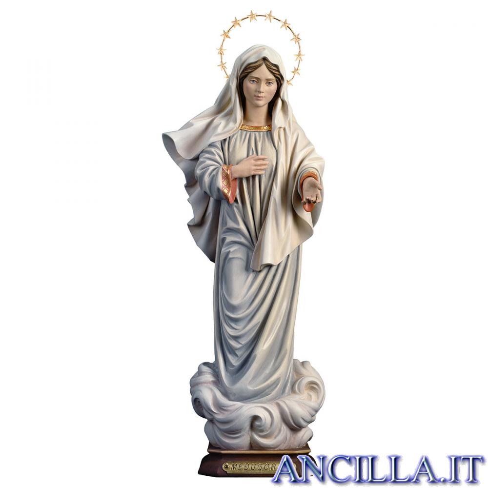 Madonna di Medjugorje con corona di stelle