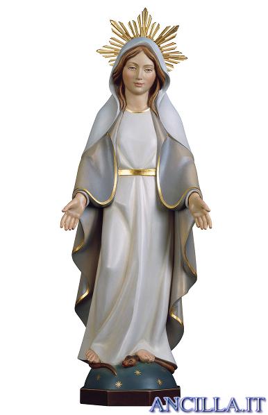 Madonna miracolosa moderna con raggiera olio