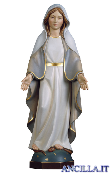 Madonna miracolosa moderna olio