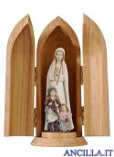 Madonna di Fatima con i tre pastorelli modello 1 in nicchia