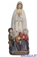 Madonna di Fatima con i tre pastorelli mod.2 rifinitura antica con oro zecchino