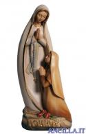 Madonna di Lourdes con Bernadette stilizzata olio