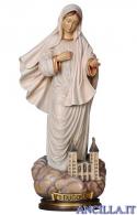 Madonna di Medjugorje con chiesa olio