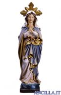 Maria Santissima Immacolata che prega con raggiera olio