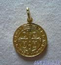 Medaglia di San Benedetto ottone dorato
