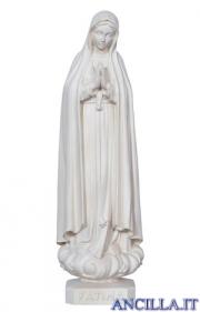 Madonna di Fatima legno naturale non dipinto