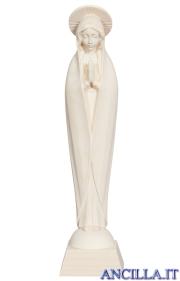 Madonna di Fatima stilizzata legno naturale