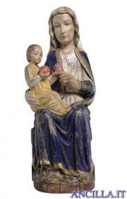 Madonna Mariazell seduta anticata oro e argento