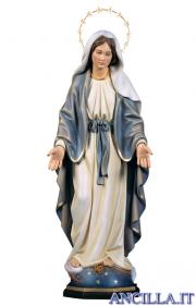 Madonna miracolosa con raggiera 12 stelle ottone olio