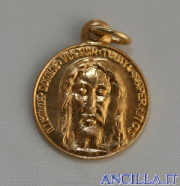 Medaglia del Santo Volto dorata