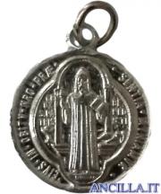 Medaglia di San Benedetto alluminio argentato