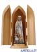 Madonna di Fatima con i tre pastorelli dipinta a olio