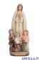 Madonna di Fatima con i tre pastorelli mod.2 dipinta a olio