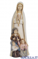 Madonna di Fatima con i tre pastorelli mod.1 dipinta a olio