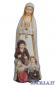 Madonna di Fatima con i tre pastorelli mod.1 rifinitura antica con oro zecchino
