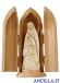 Madonna di Lourdes con Bernadette filo oro
