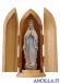 Madonna di Lourdes con corona olio