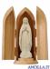 Madonna di Lourdes stilizzata modello 1 naturale