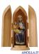 Madonna Mariazell seduta olio
