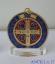 Medaglia di San Benedetto smaltata argentata