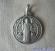 Medaglia di San Benedetto ottone argentato