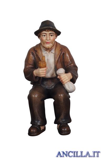 Nonno con pipa Mahlknecht serie 9,5 cm