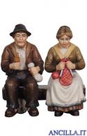 Nonni seduti sulla panca Kostner serie 9,5 cm
