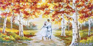 Palpiti d'amore - decorato su pannello piatto
