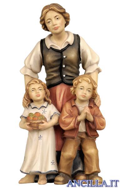 Pastora con due bambini Rainell serie 9 cm