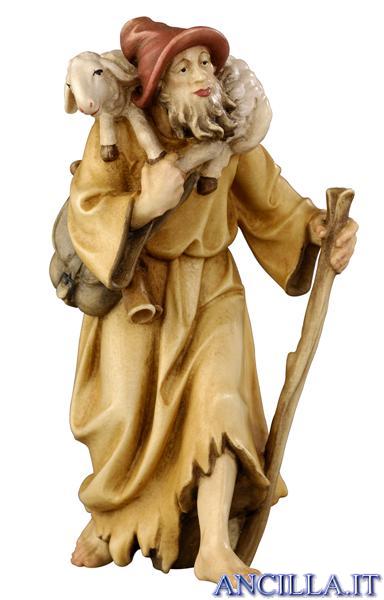 Pastore con agnello in spalla Rainell serie 22 cm