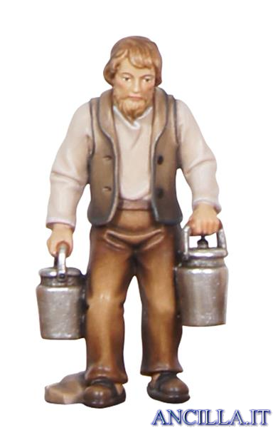Pastore con bidoni del latte Kostner serie 12 cm
