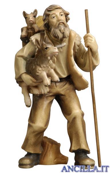 Pastore con capre Rainell serie 22 cm
