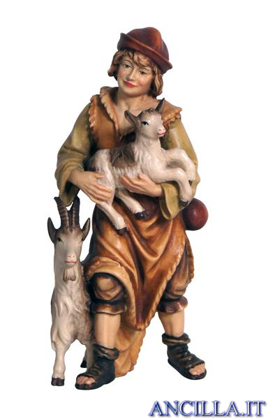 Pastore con due capre Mahlknecht serie 12 cm