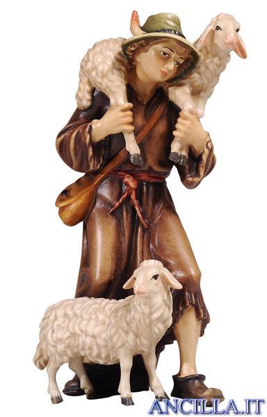 Pastore con due pecore Mahlknecht serie 12 cm