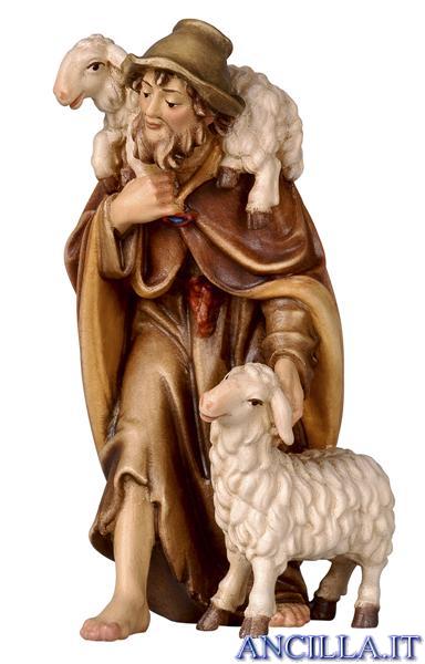 Pastore con due pecore Rainell serie 9 cm