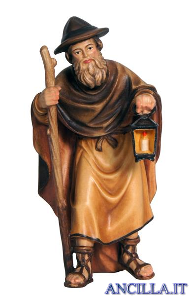 Pastore con lanterna Mahlknecht serie 12 cm