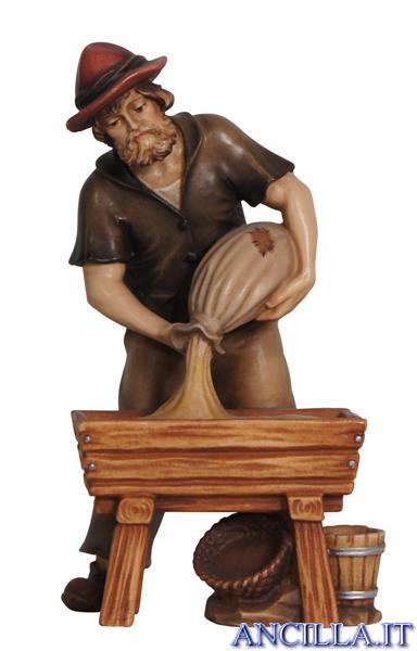 Pastore con mangiatoia Mahlknecht serie 12 cm