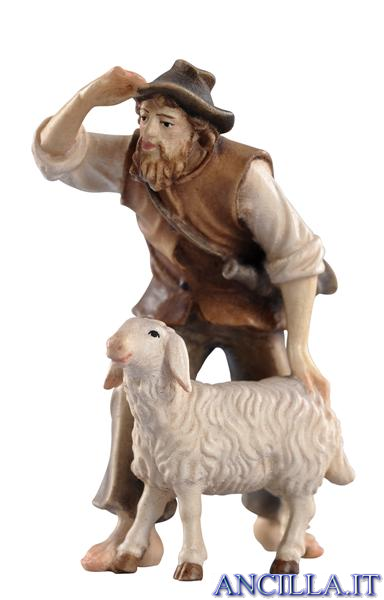 Pastore con pecora Kostner serie 16 cm