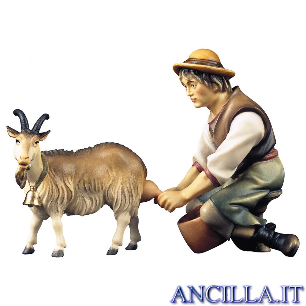 Pastore mungente con capra da mungere Ulrich serie 15 cm
