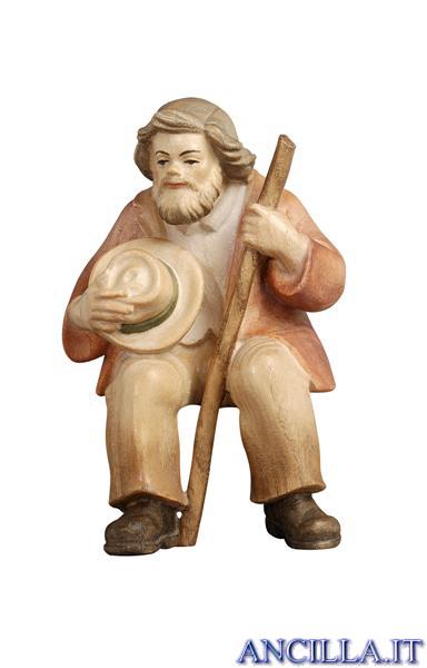 Pastore seduto Pema serie 15 cm