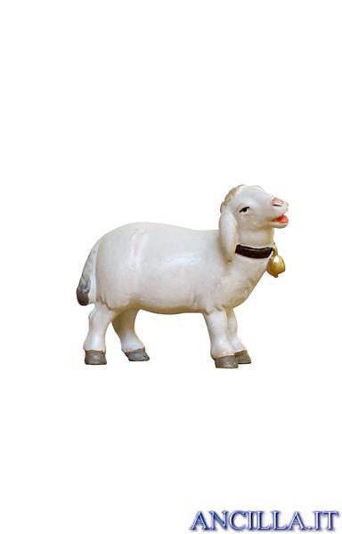 Pecora con campanello testa a destra Pema serie 12 cm