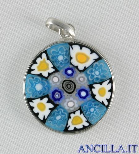 Pendente Murano Glass 15 mm mod. 8 argentato