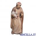 Pastore con bastone e agnello in braccio Avvento serie 16 cm