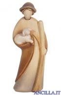 Pastore con bastone e agnello Leonardo serie 17 cm Colorato