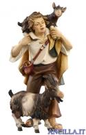 Pastore con due capre Kostner serie 12 cm