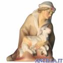 Pastore inginocchiato con agnello Cometa serie 12 cm